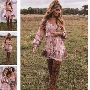 Spell Wild Bloom Long Sleeve Playdress Blush
